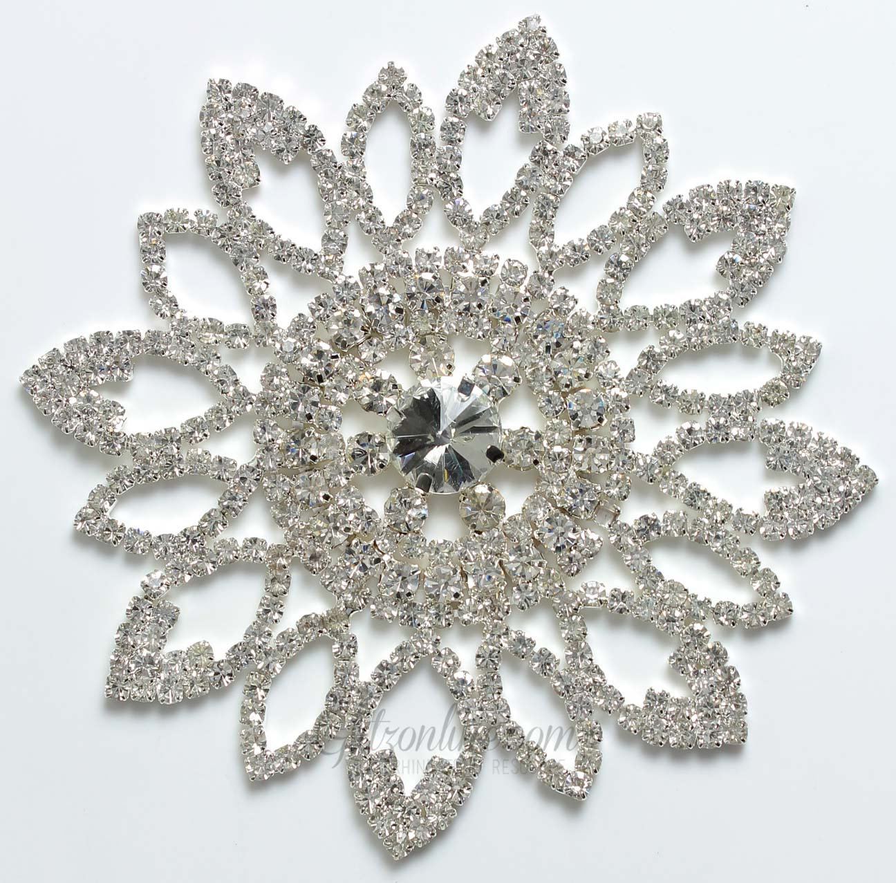 1307 Crystal Rhinestone Lace Applique Glitz And Glamour